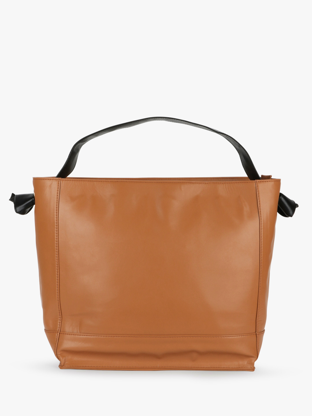 Paris Belle Tan/Black Basic Tote Bag With Knotted Strap 1