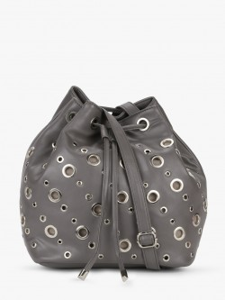 Paris Belle Bucket Bag With Eyelet Detail