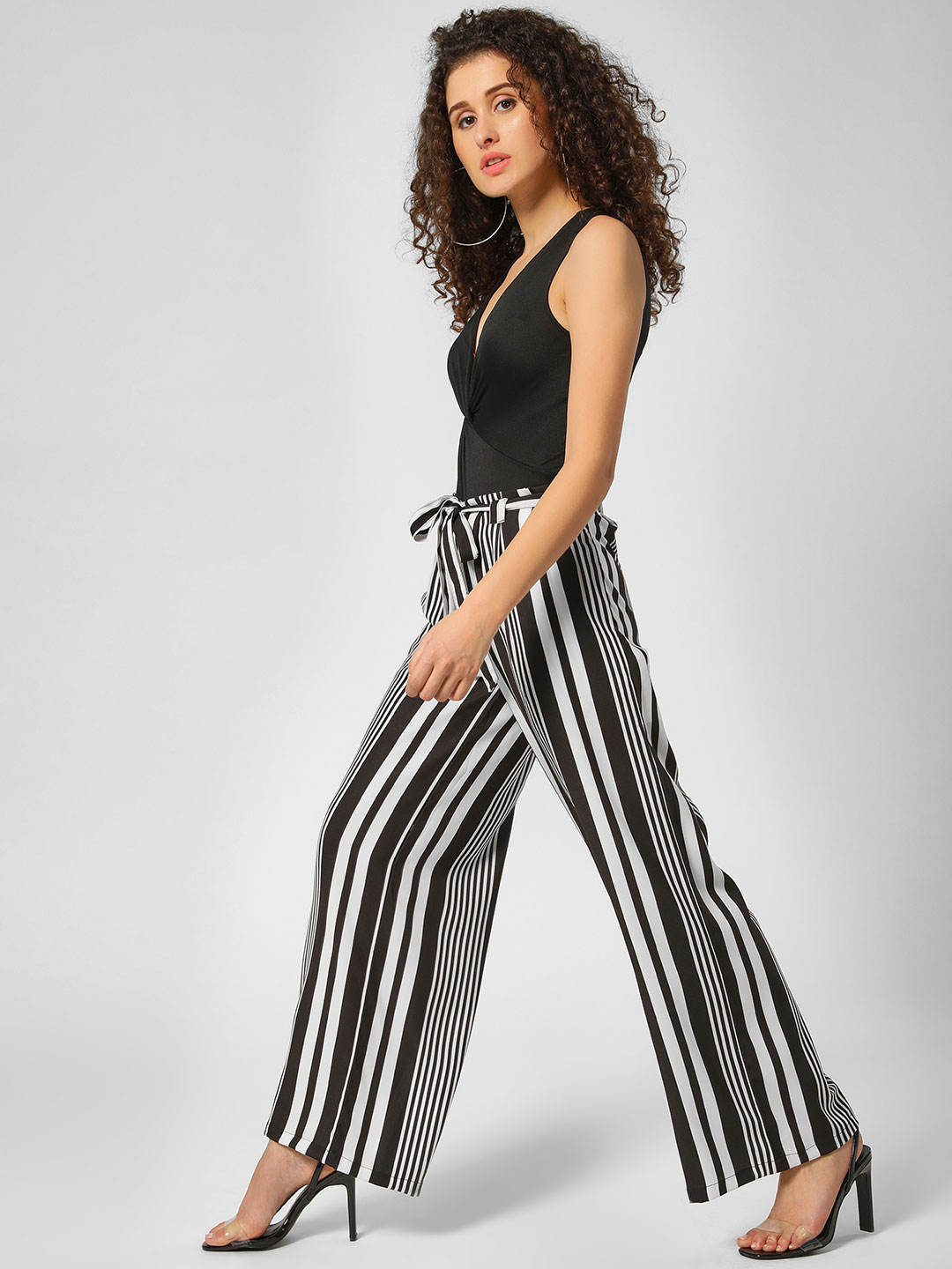 KOOVS Multi Stripe Wide Leg Trousers 1