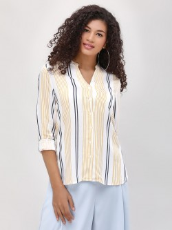 Cover Story Printed Striper Shirt