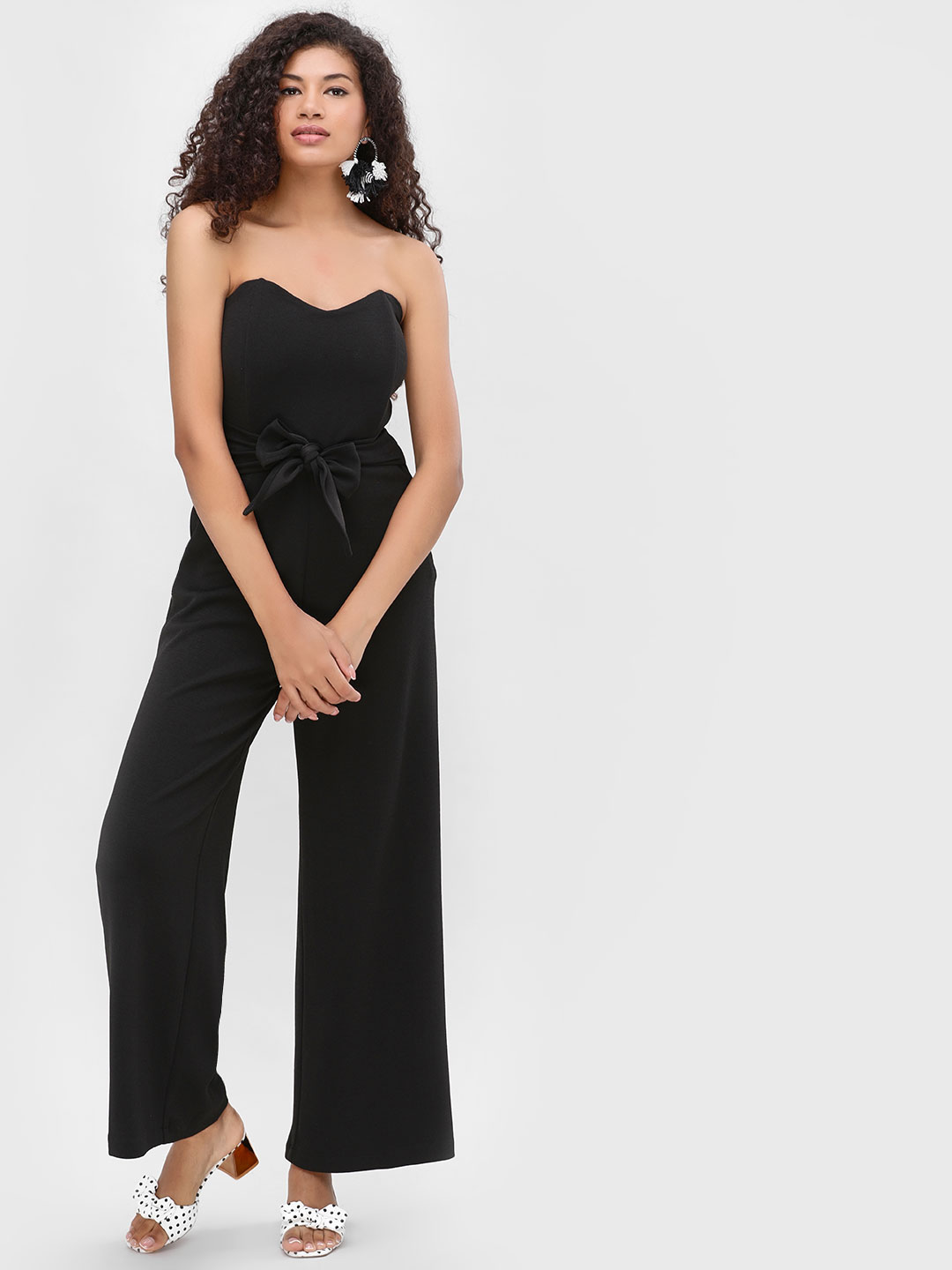 Cover Story Black Bandeau Jumpsuit 1
