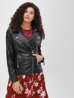 Cover Story Quilted Panel Bomber Jacket