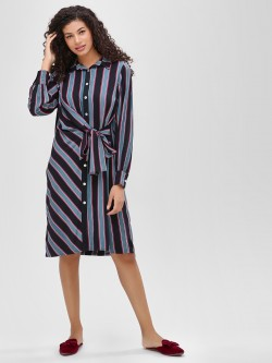 Cover Story Printed Shirt Dress