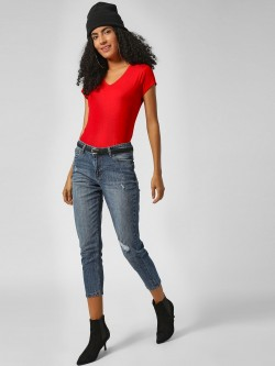 HEY Cropped Boyfriend Fit Jeans