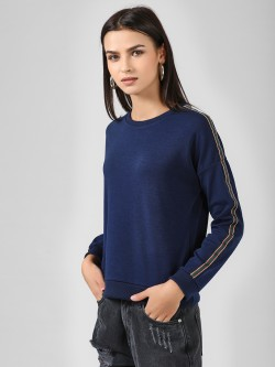 Brave Soul Stripe Tape Sweatshirt