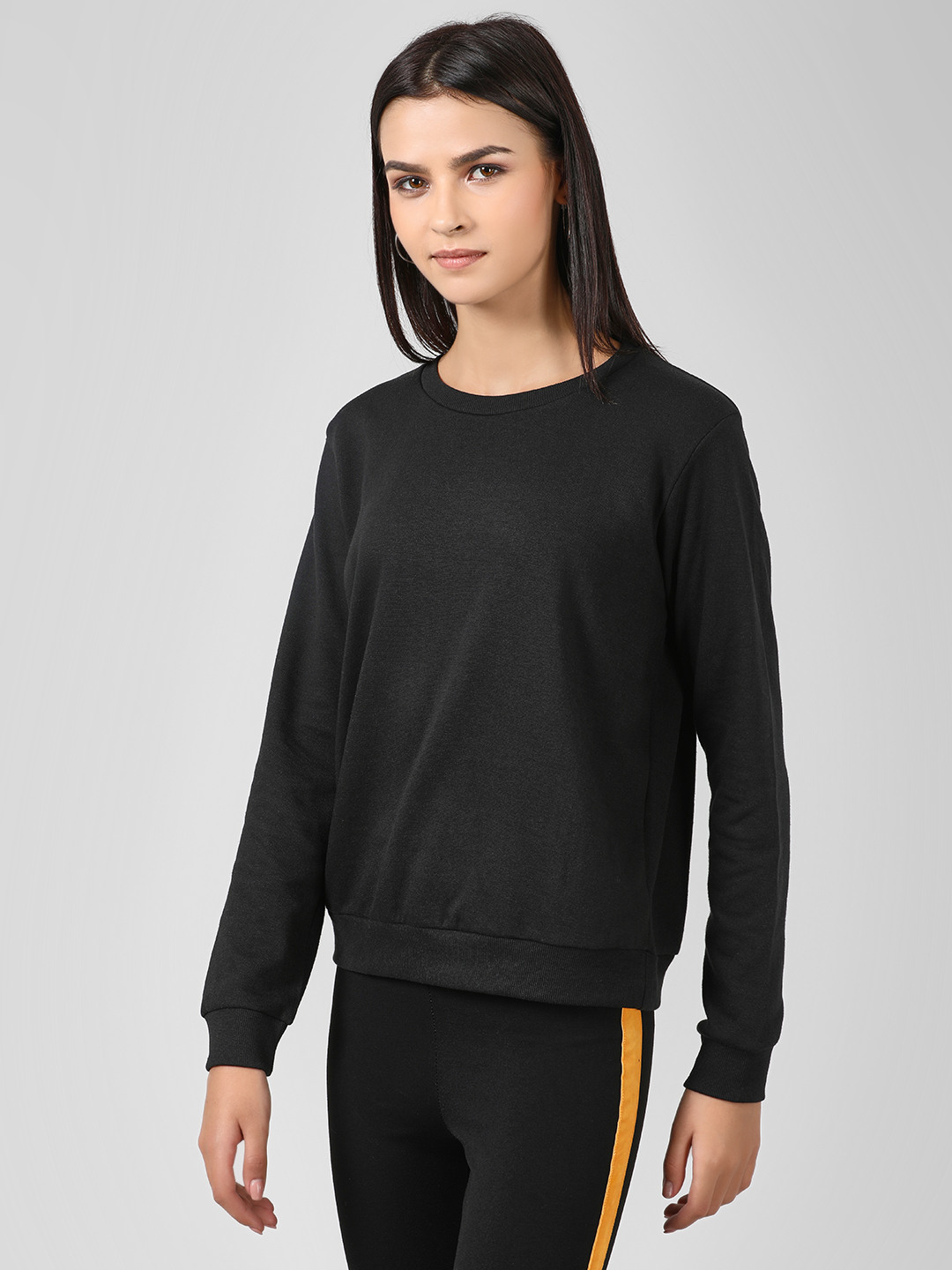 Brave Soul Black Long Sleeve Sweatshirt 1