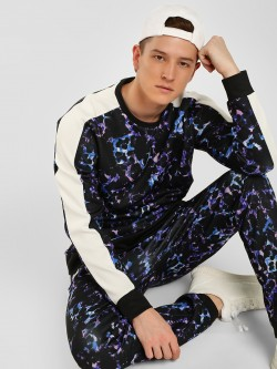 KOOVS Abstract Floral Printed Sweatshirt