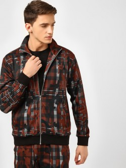 KOOVS Camo Checkered Track Jacket