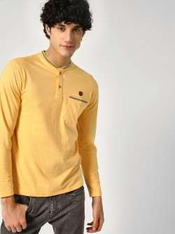 Blotch Pocket Tipping Henley T-Shirt
