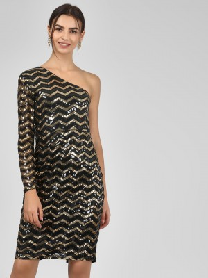 KOOVS Sequin One Shoulder Body...
