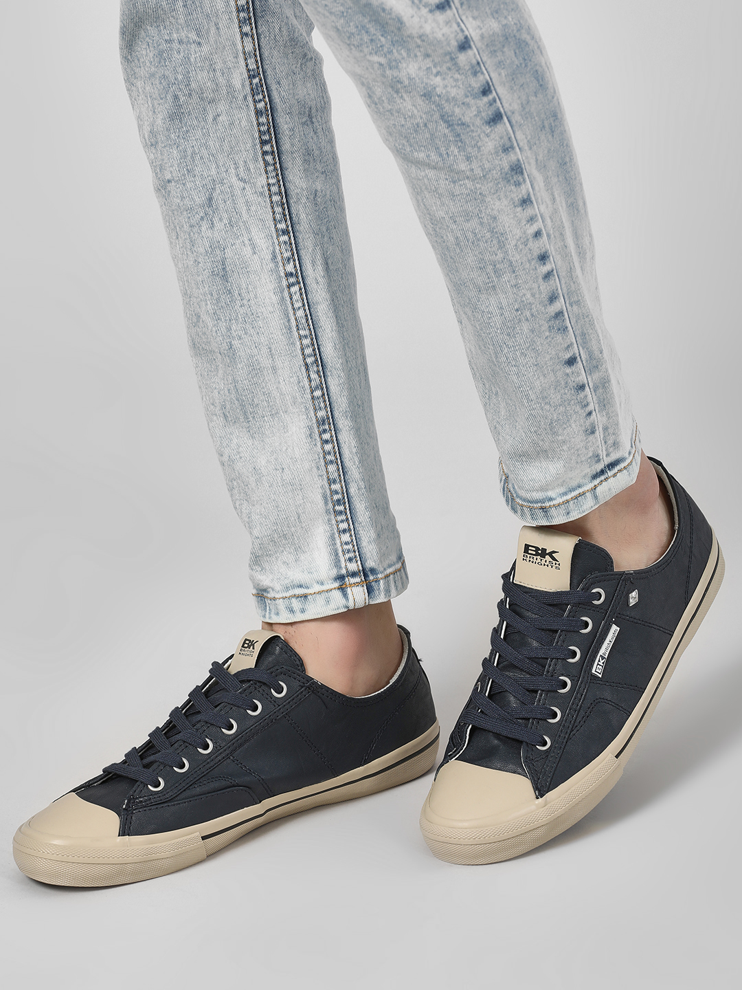 BRITISH KNIGHTS Blue Lace-Up Sneakers 1