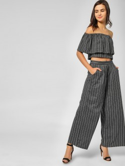 Spring Break Striped Flared Trousers