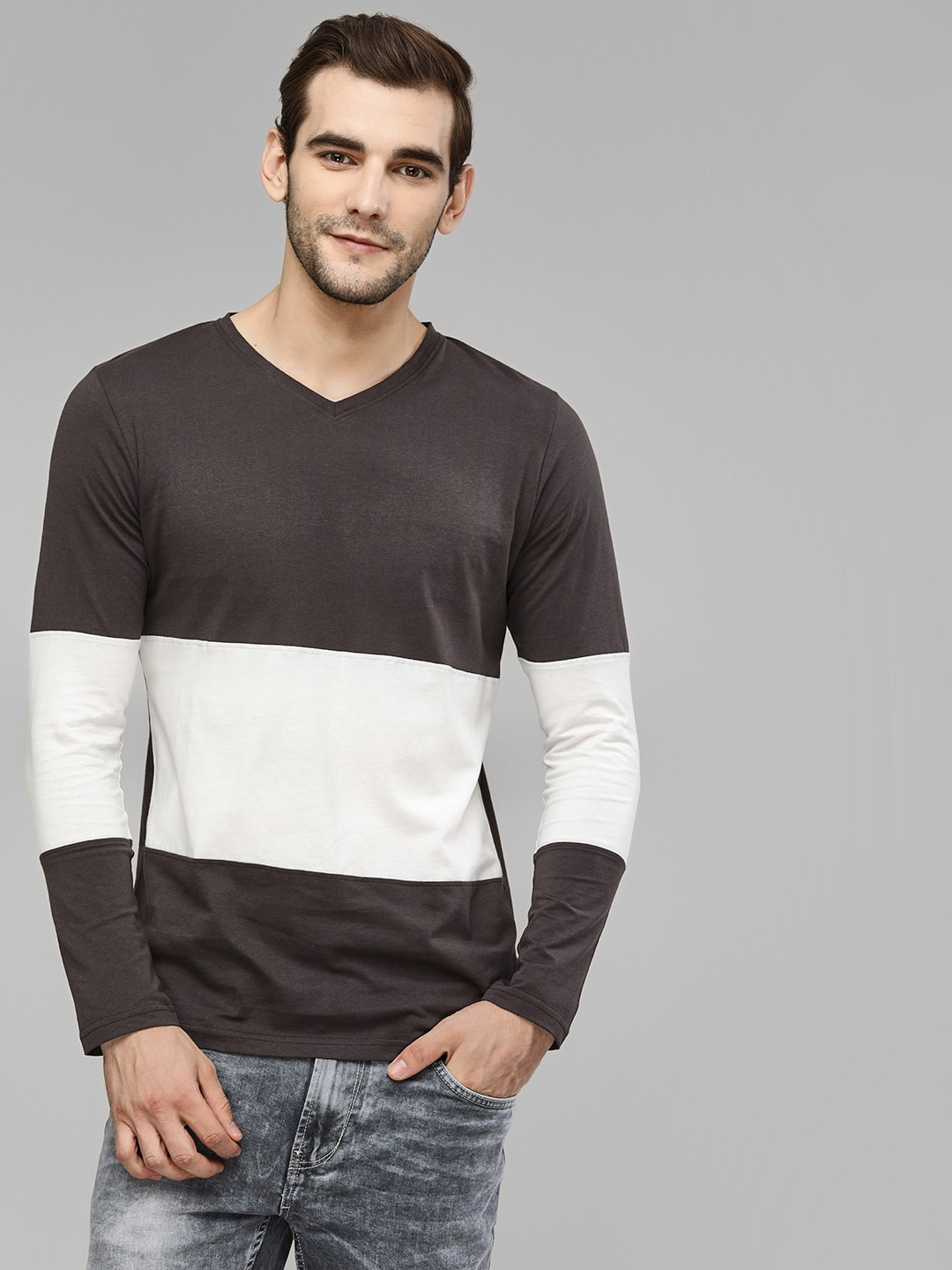 Kultprit Multi Colour Block Long Sleeve T-Shirt 1