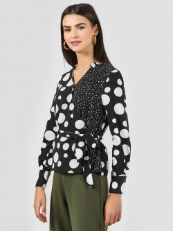 Vero Moda Polka Dot Wrap Shirt