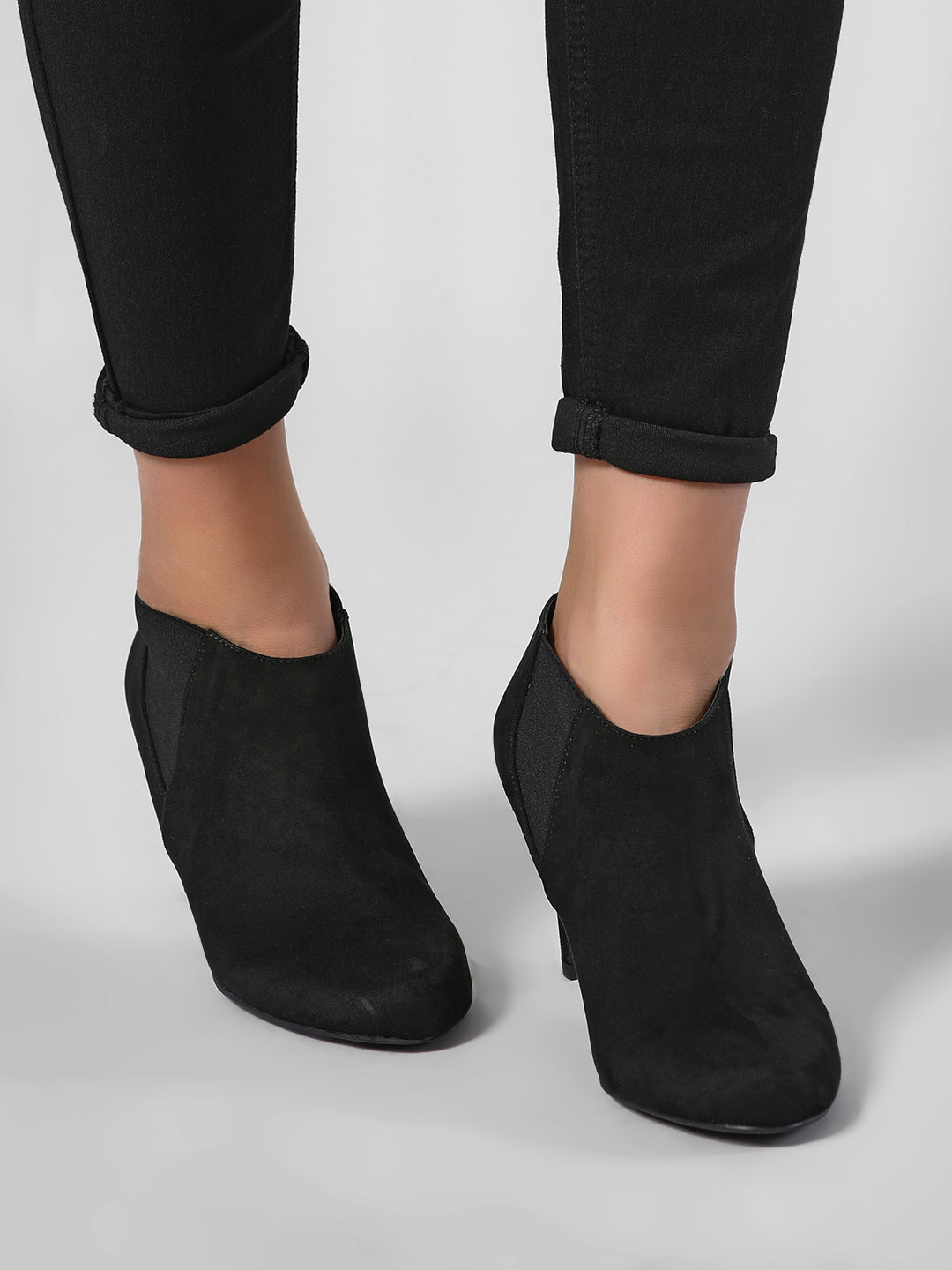 New Look Black Gusset Heeled Chelsea Boots 1