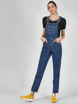 New Look Basic Dungaree With Pocket Detail