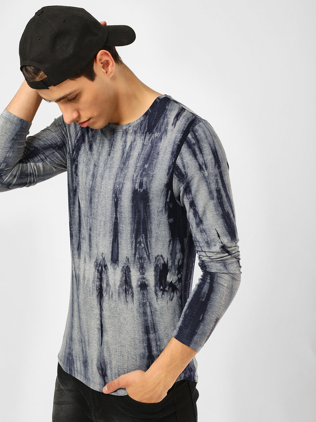 KOOVS Multi Tie & Dye Long Sleeve T-Shirt 1