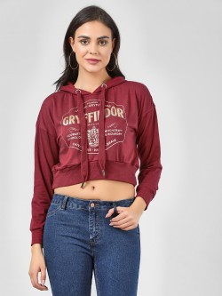 Only Gryffindor Slogan Crop Sweatshirt
