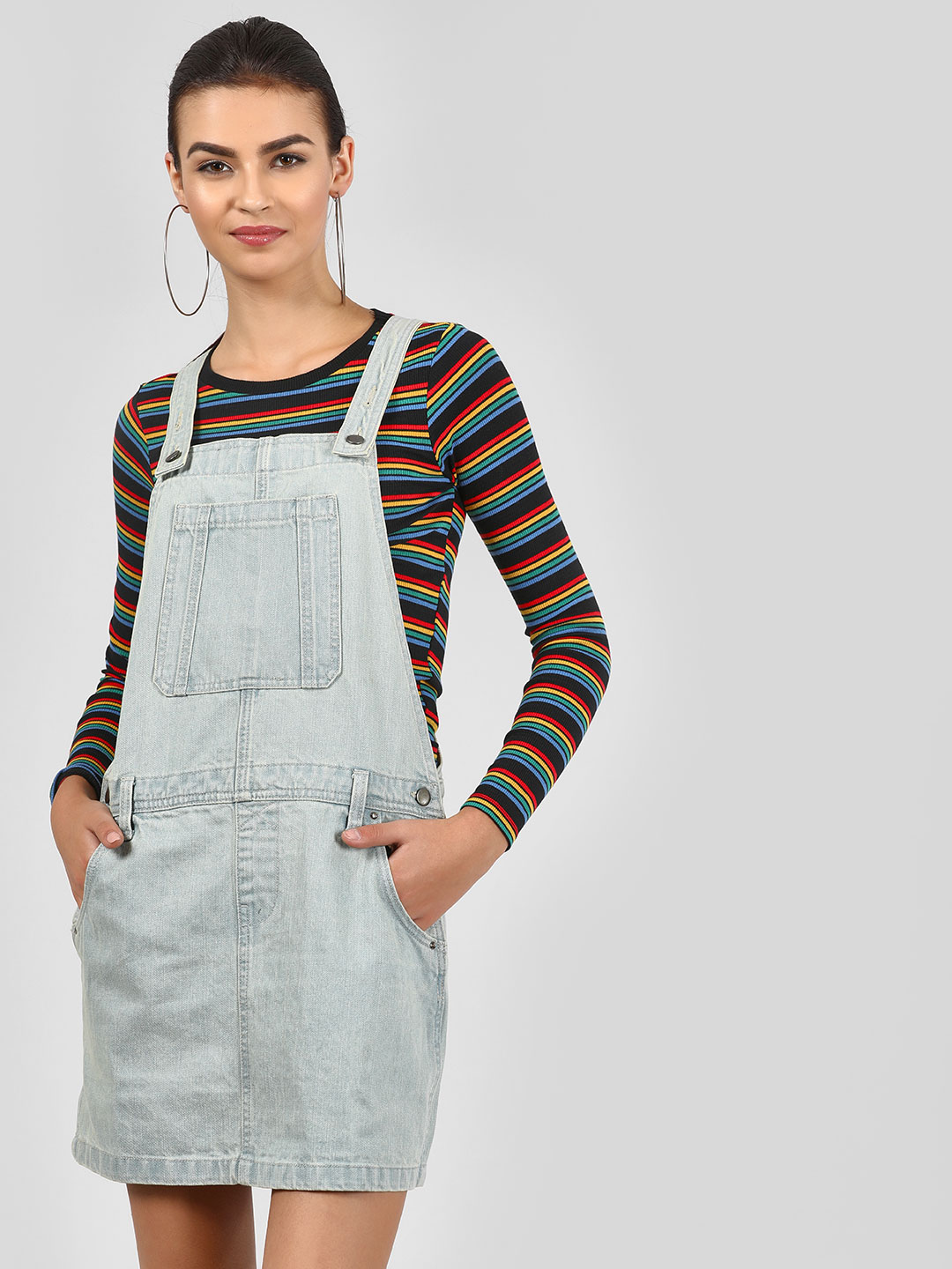 Noble Faith Blue Denim Dungaree Dress 1