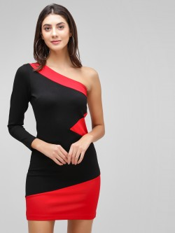 Cover Story One Shoulder Bodycon Dress