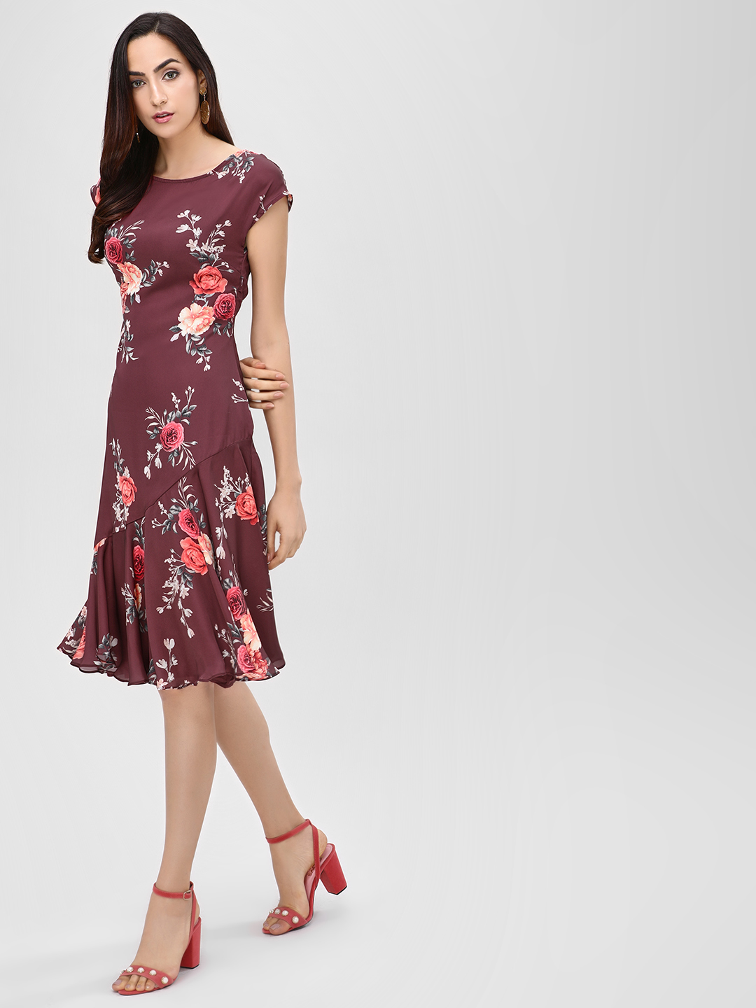 Cover Story Multi Floral Printed Midi Dress 1