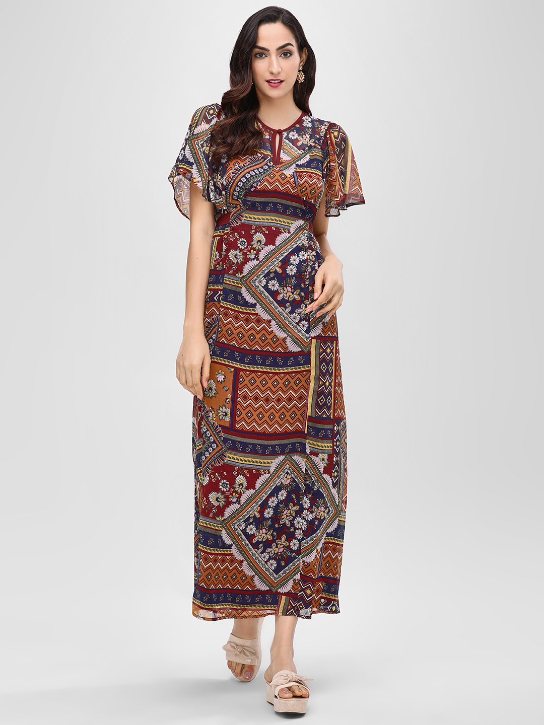 Cover Story Multi Printed Maxi Dress 1