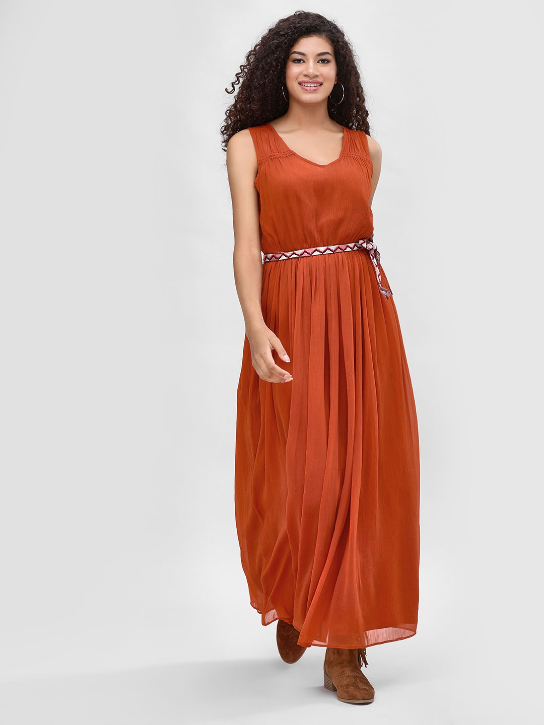 Cover Story Rust Sleeveless Maxi Dress 1