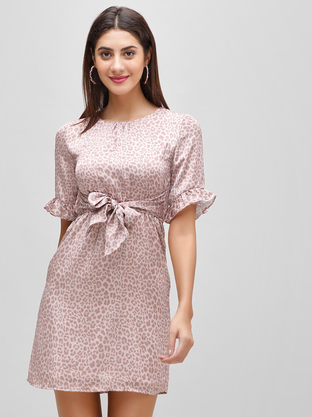 Cover Story Blush pink Front Tie Knot Shift Dress 1