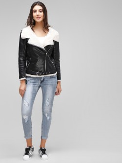 Cover Story Distressed Cropped Skinny Jeans