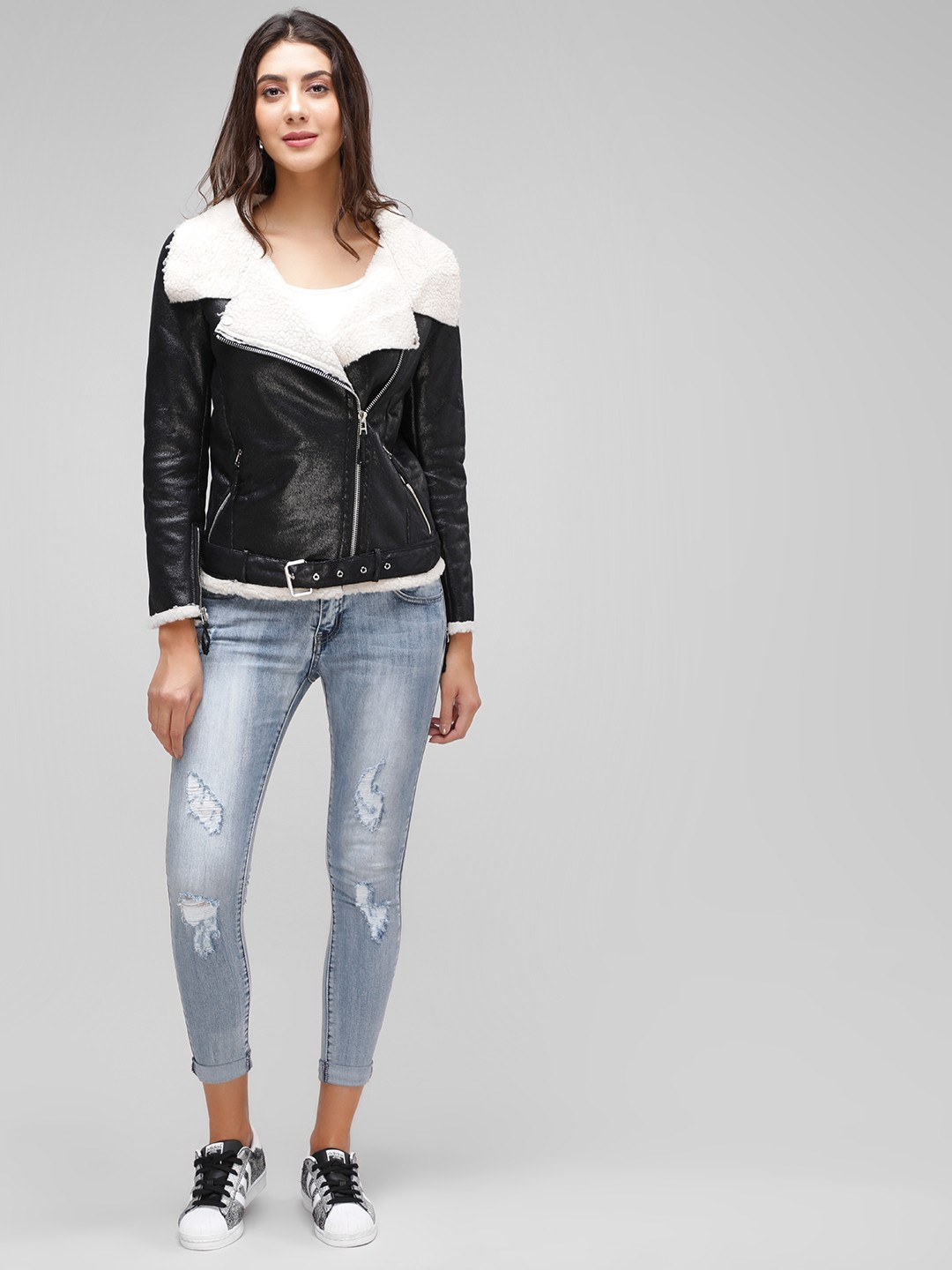 Cover Story Light Blue Distressed Cropped Skinny Jeans 1