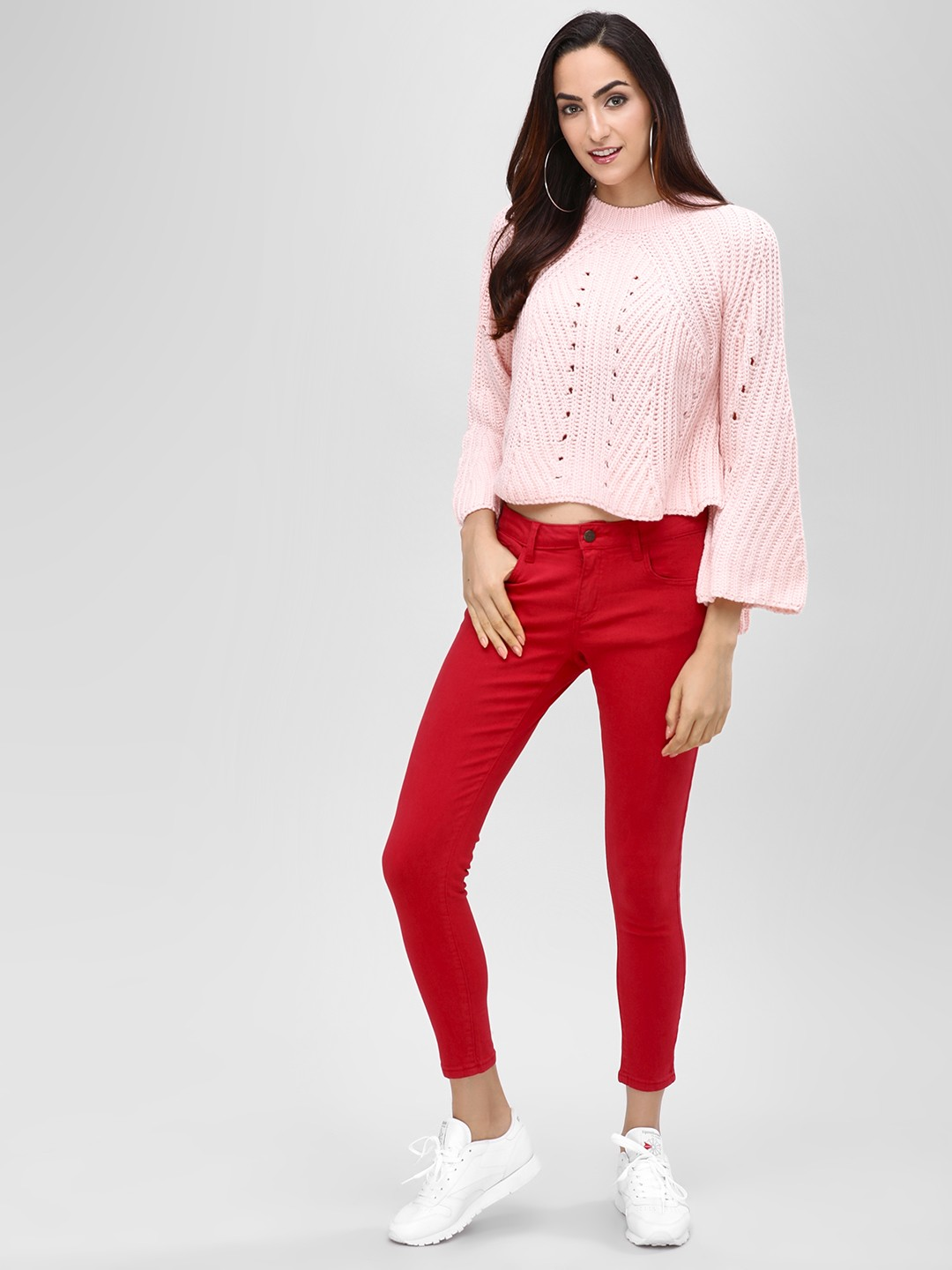 Cover Story Red Skinny Jeans 1