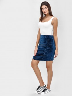 Cover Story Velvet Ruched Mini Skirt