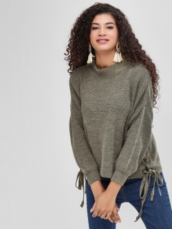 Cover Story Side Lace-Up Pullover