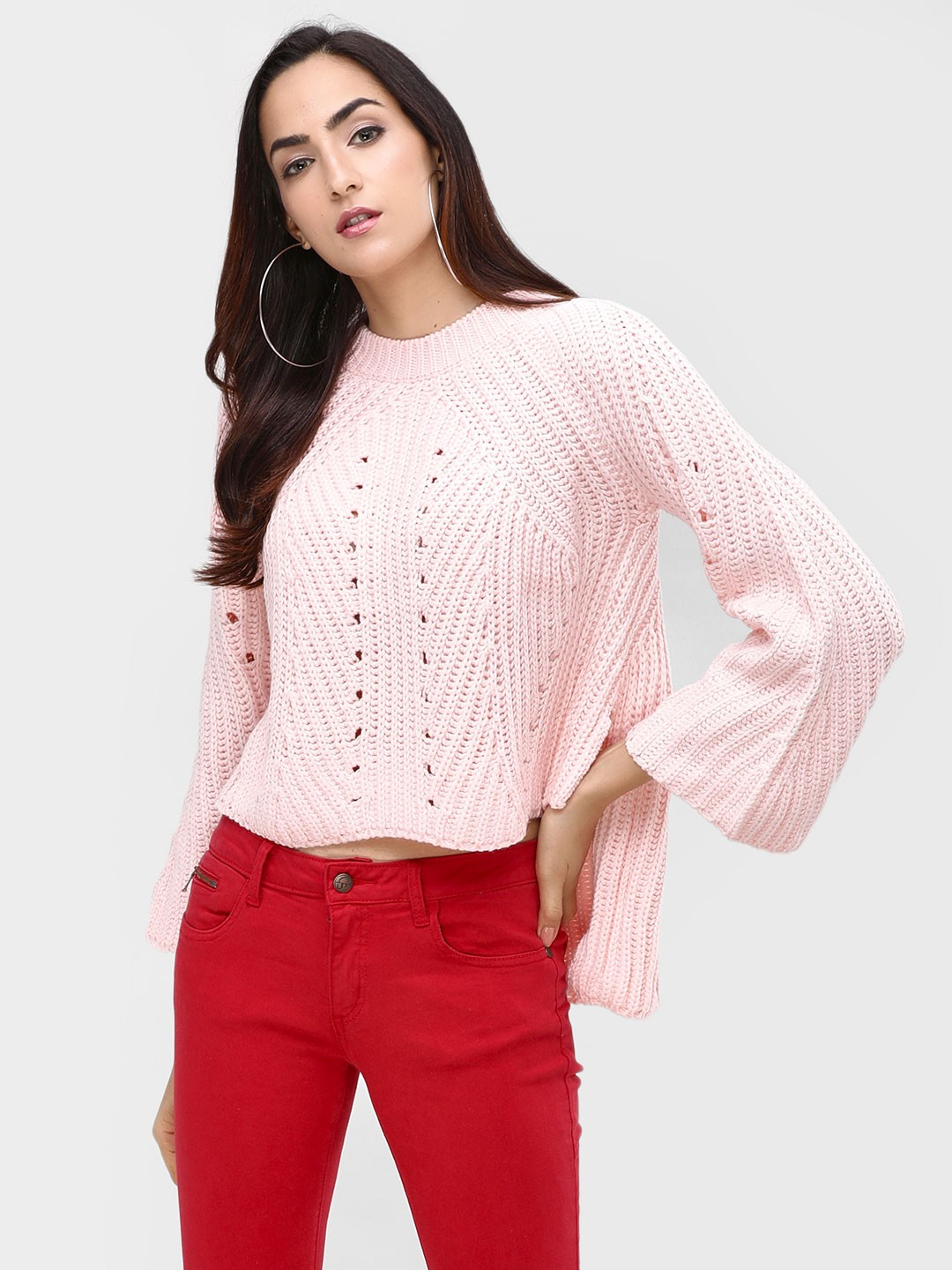 Cover Story Pink Croatia Knitted Pullover 1