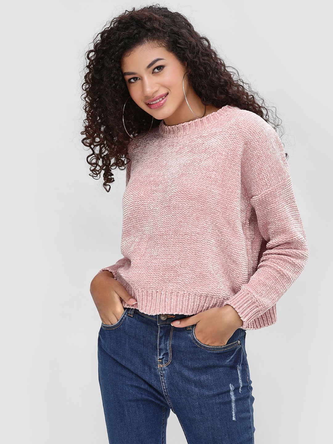 Cover Story Wine Textured Chenille Pullover 1