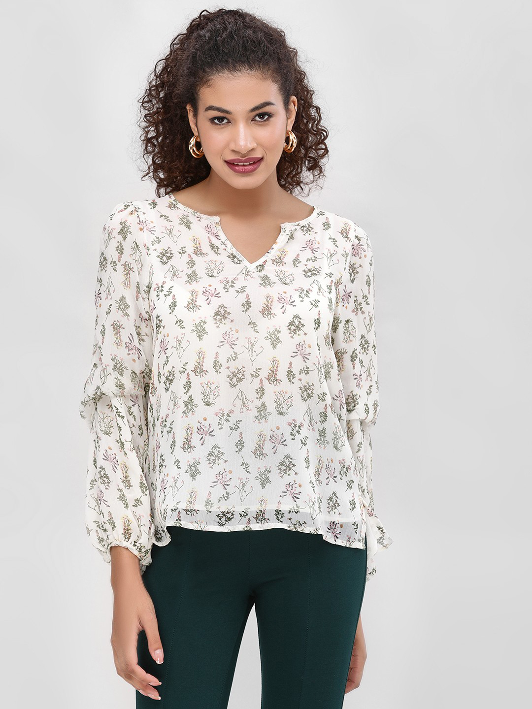 Cover Story Multi Floral Printed Blouse 1