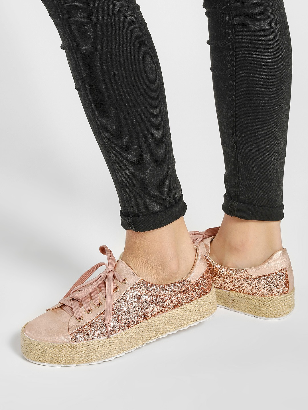 Happy Feet Pink Stackable Glitter Trainers 1
