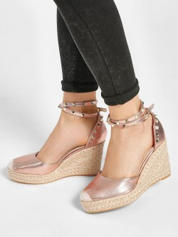 Happy Feet Espadrille Heeled Pumps