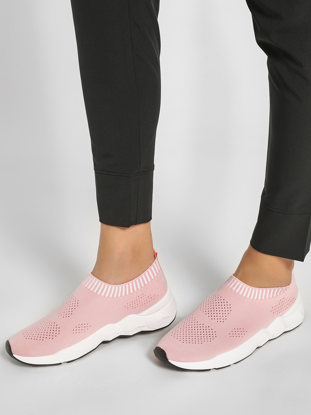 Happy Feet Pink Mesh Socks Trainers 1