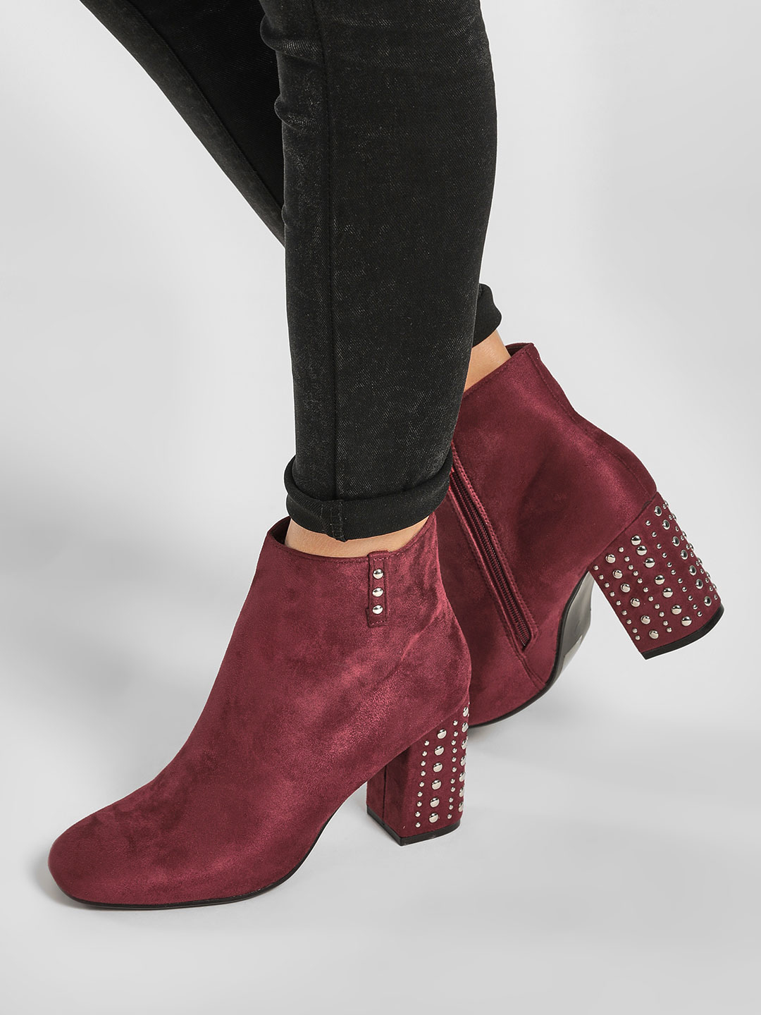 Happy Feet Red Studded Boots 1
