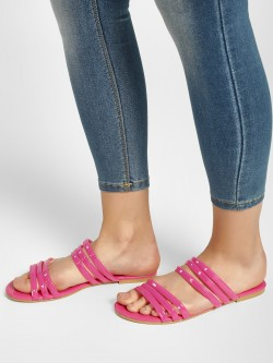 KOOVS Tubular Multi-Strap Flat Sandals