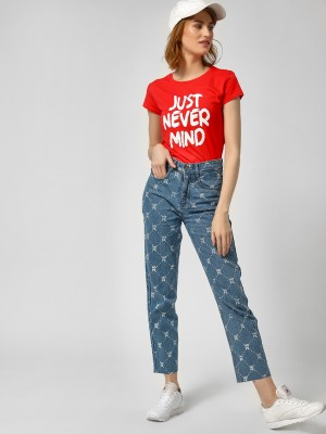 KOOVS All Over Hope Print Jean...
