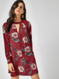 Lola May Full Sleeve Shift Dress