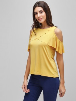 Cover Story Overlap Cold Shoulder Top