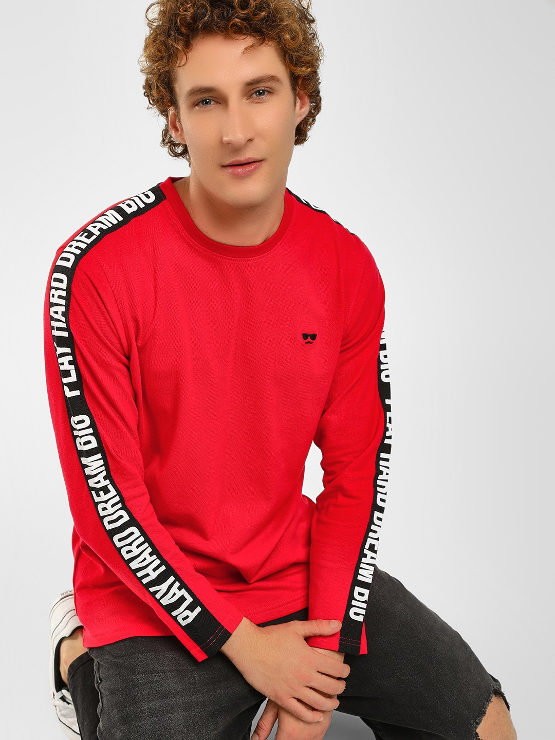 Garcon Red Contrast Tape Detail T-Shirt 1