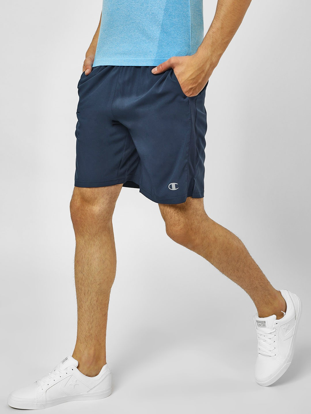 Champion Navy Power Train Running Shorts 1