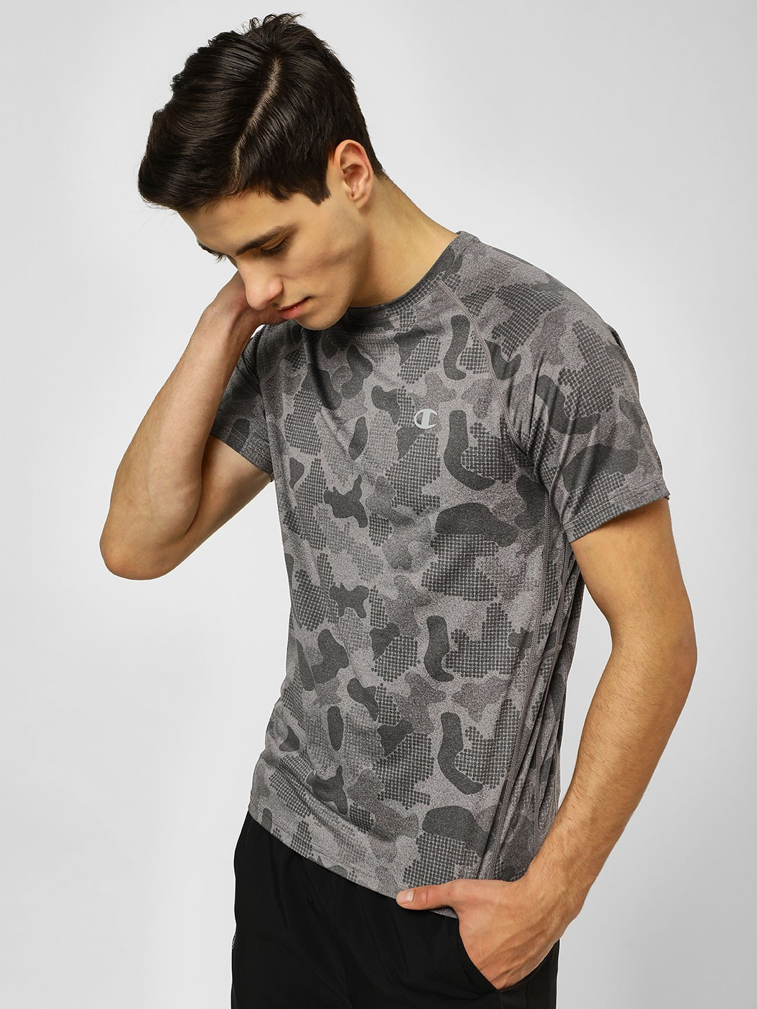 Champion Grey All Over Print Active T-Shirt 1