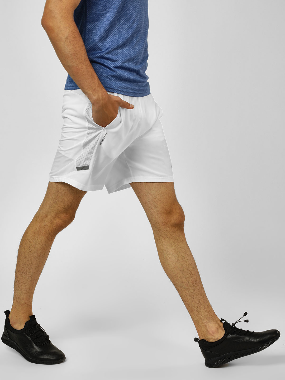 Champion White Running Shorts 1
