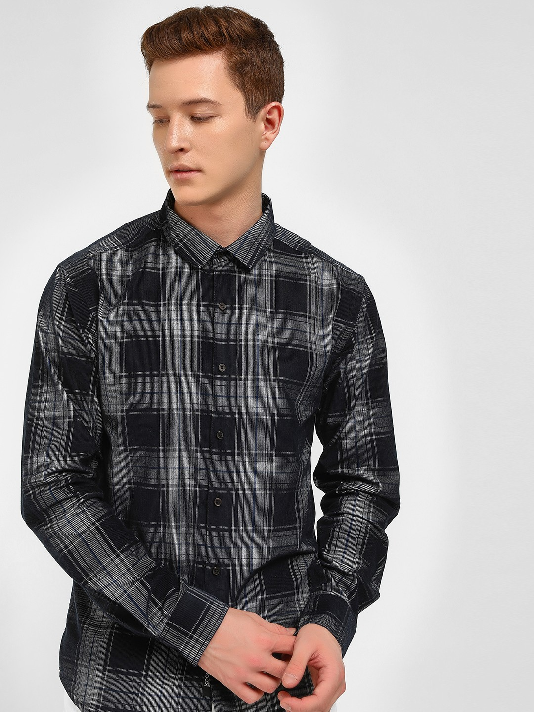 KOOVS Multi Check Print Casual Shirt 1
