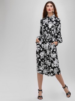 Cover Story Floral Printed Shirt Dress